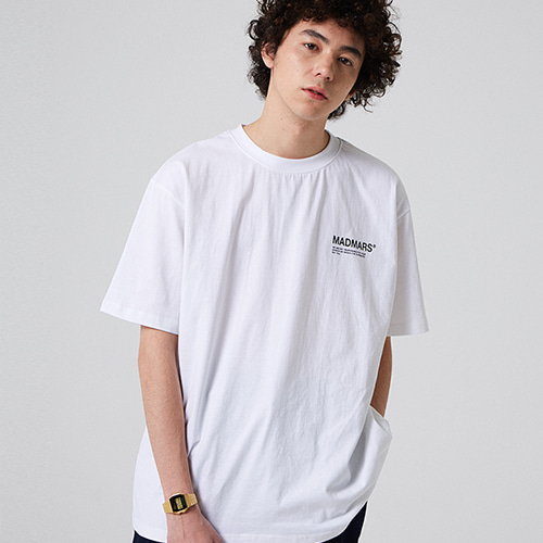 [매드마르스] UNISEX SMALL LOGO T-SHIRT_WHITE