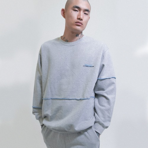 [OBJECT] HYPERLINKING SWEATSHIRT - GRAY
