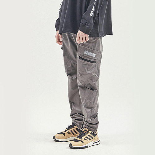 [RENDEZVOUZ] UTILITY POCKET CARGO PANTS GREY