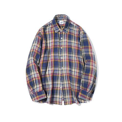 [파르티멘토] Madras Check Shirts Blue
