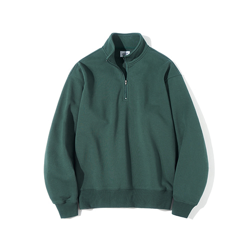 [파르티멘토] Pullover Zip-up Sweatshirts Deep Green