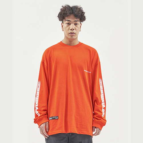 [RENDEZVOUZ] ARM SURVEIL LONG SLEEVE ORANGE