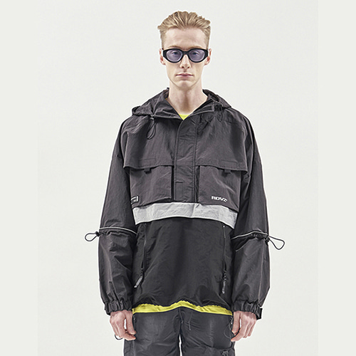 [RENDEZVOUZ] UTILITY POCKET ANORAK CHARCOAL