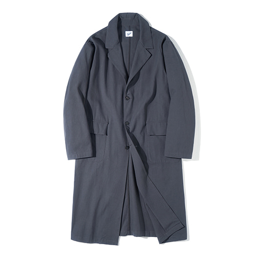 [파르티멘토] Single Long Coat Charcoal
