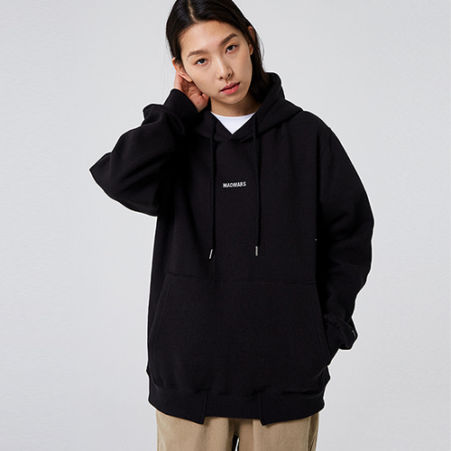 [매드마르스] CUTTING SMALL LOGO HOODIE_BLACK