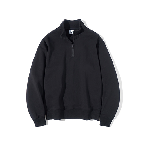 [파르티멘토] Pullover Zip-up Sweatshirts Black