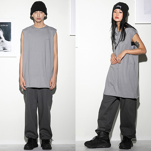 [FLARE UP] Over long sleeveless GR (FU-110) - grey