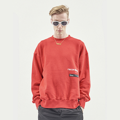 [RENDEZVOUZ] RECORDING SWEAT TOP RED