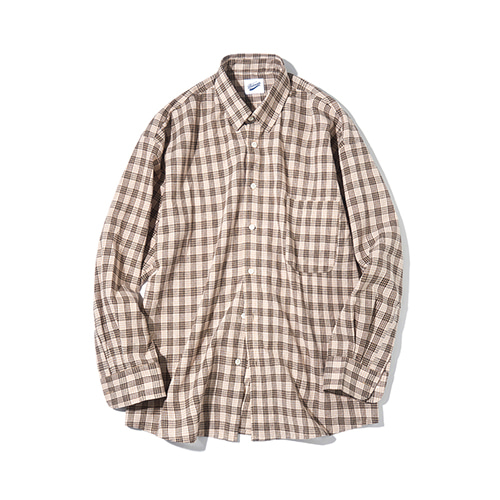 [파르티멘토] Tone Check Shirts Beige