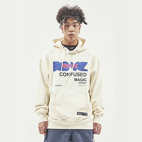 [RENDEZVOUZ] THE CONFUSED HOODIE CREAM