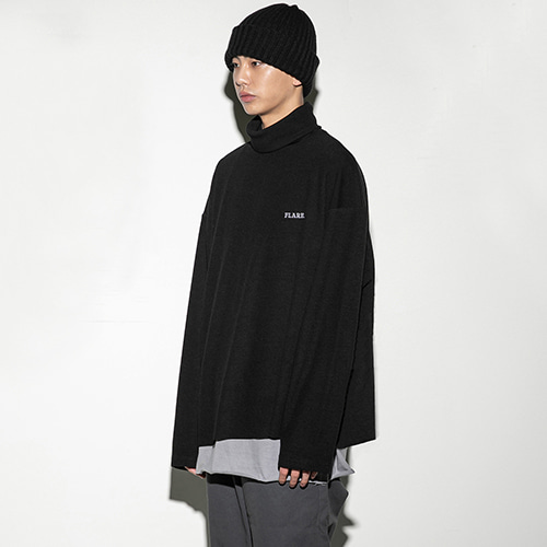 [FLARE UP] Over turtleneck BK (FU-103) - black