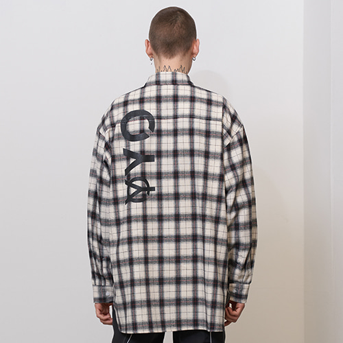 [OY] LOGO CHECK SHIRTS - WH