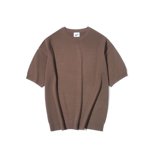 [파르티멘토] Full Needle 1/2 Knit Brown