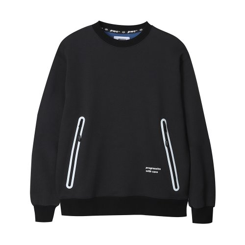 [ANOUTFIT] UNISEX PWC WELDING SWEAT SHIRTS BLACK
