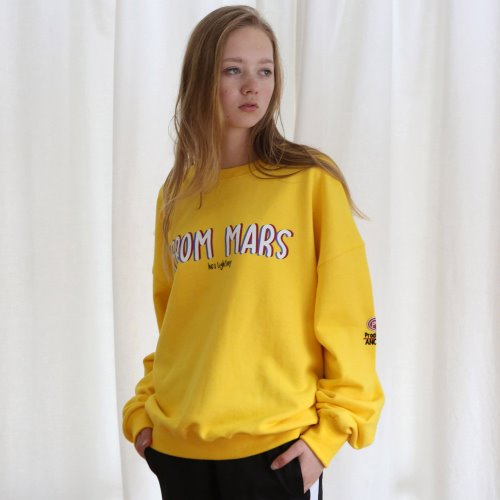 [ANOUTFIT] UNISEX FROM MARS SWEAT SHIRTS YELLOW