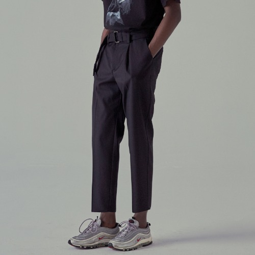 [NOT4NERD] Belt One Tuck Pants - Black