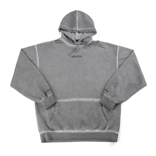 Washed Drop Hoodie (HAND MADE) - SILVER