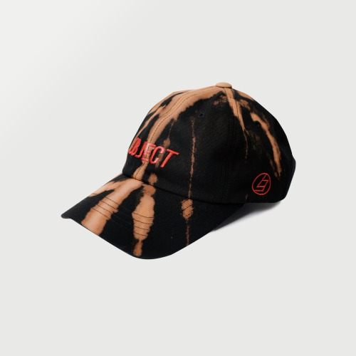 [OBJECT] BLEACH OBJECT LOGO CAP - BLACK/RED