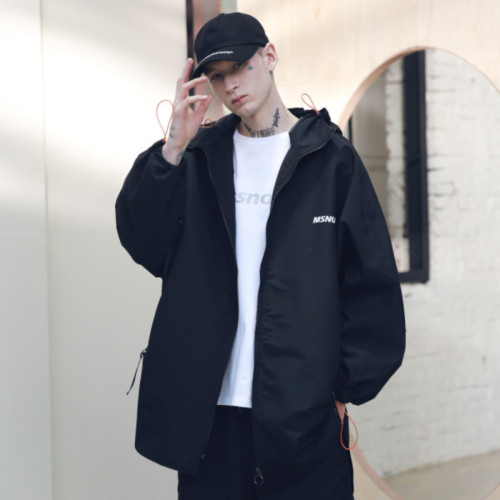 [MASSNOUN] SB STREET OVERSIZED RAINCOAT MSNCT001-BK