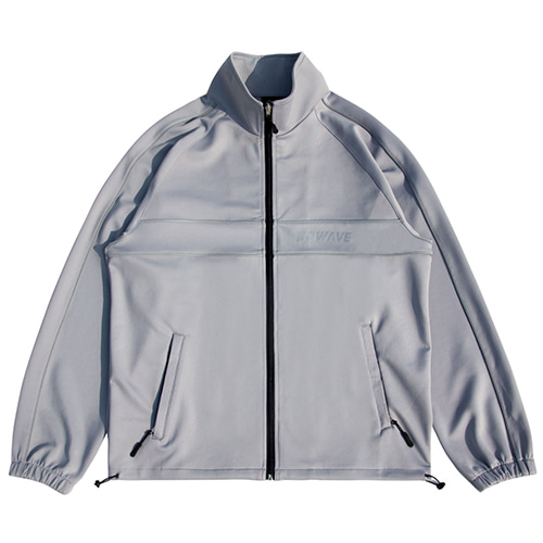 [NOWAVE] SCOTCH LINE TRACK TOP - Gray