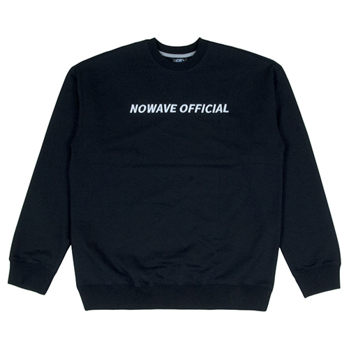 [NOWAVE] OFFICIAL SWEAT SHIRT - Black