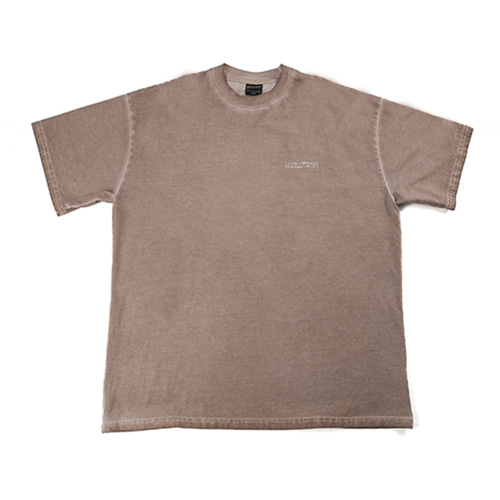 Washed Tee (HAND MADE) - BEIGE