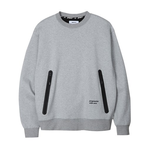 [ANOUTFIT] UNISEX PWC WELDING SWEAT SHIRTS GREY