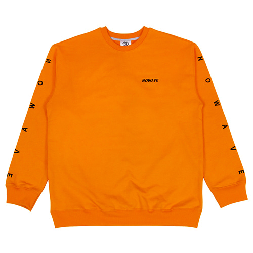 [NOWAVE] LETTERING SWEAT SHIRT - Orange