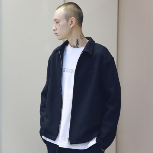 [MASSNOUN] MSNU SOLID JACKET MSNJK002-NV