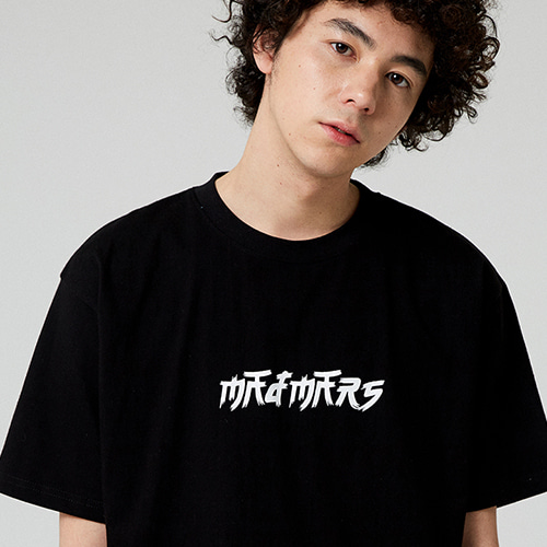 [매드마르스] BRUSH LOGO T-SHIRT_BLACK