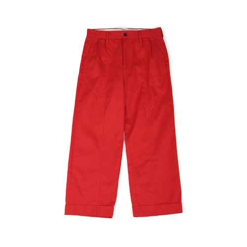 [YESEYESEE] Two Tuck Wide Pants Red