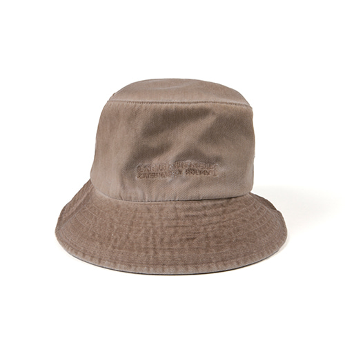 Washed Bucket Hat (HAND MADE) - BEIGE