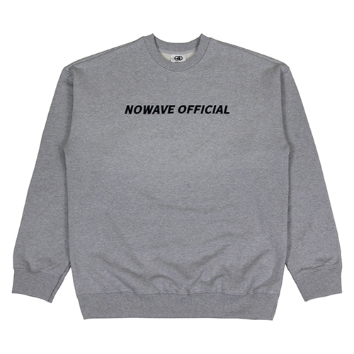 [NOWAVE] OFFICIAL SWEAT SHIRT - Gray
