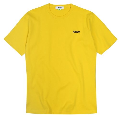 [ANOUTFIT] UNISEX EMOTICON T-SHIRTS YELLOW