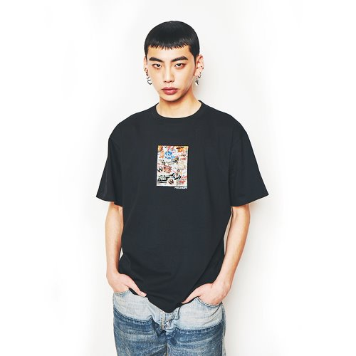 [Feel Enuff] 19' PHOTO T-SHIRTS - BLACK