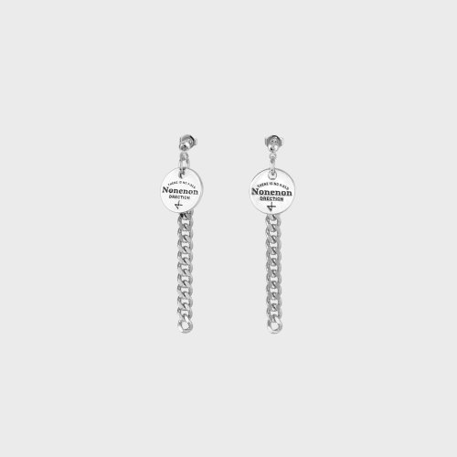 [NONENON] NEW LOGO CHAIN EAR