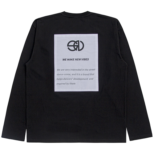 [NOWAVE] PATCH TEE - Black
