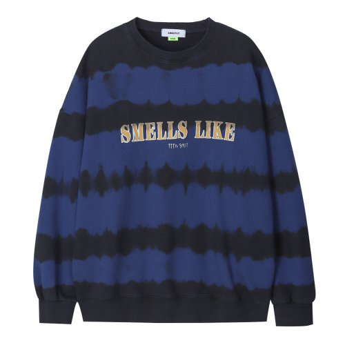 [ANOUTFIT] UNISEX TIE DYE SWEAT SHIRTS BLUE