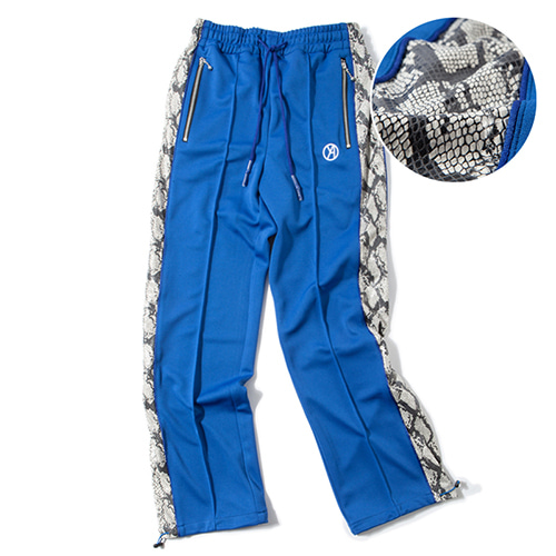 [KING] Python Track Pants - Blue