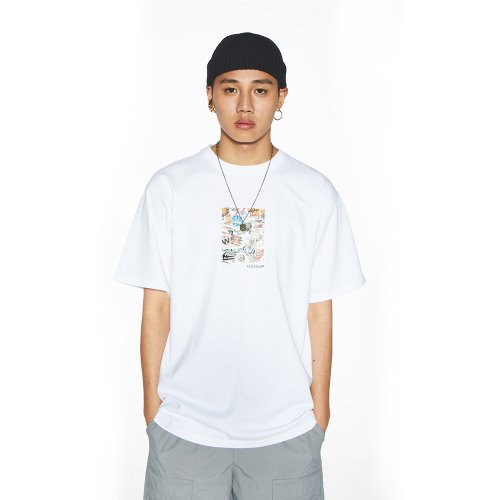 [Feel Enuff] 19' PHOTO T-SHIRTS - WHITE