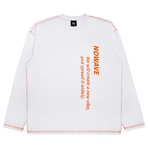 [NOWAVE] SLOGAN TEE - White