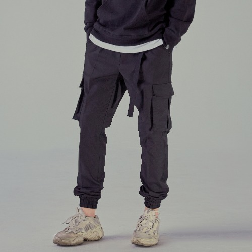 [NOT4NERD] One Tuck Cargo Jogger Pants - Black