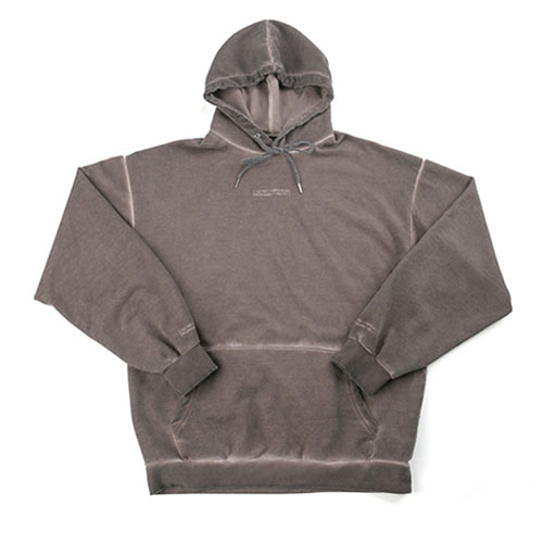 Washed Drop Hoodie (HAND MADE) - BROWN