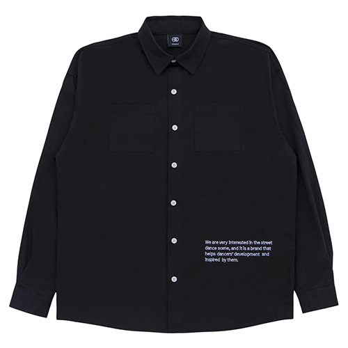 [NOWAVE] LOGO SHIRT - Black