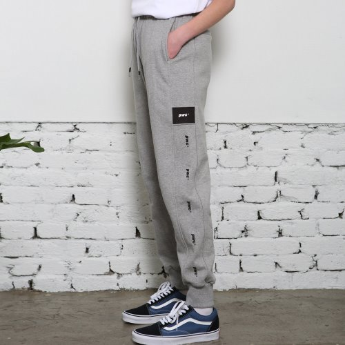 [ANOUTFIT] UNISEX PWC TAP JOGGER TRACK PANTS GREY