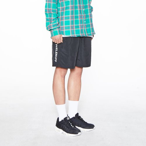 [Feel Enuff] NW NYLON SHORTS - BLACK