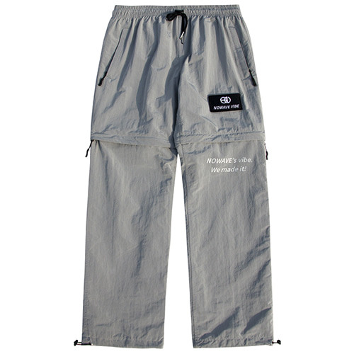[NOWAVE] WOVEN TRACK PANTS - Gray