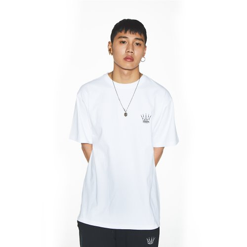 [Feel Enuff] BASIC CROWN T-SHIRTS - WHITE