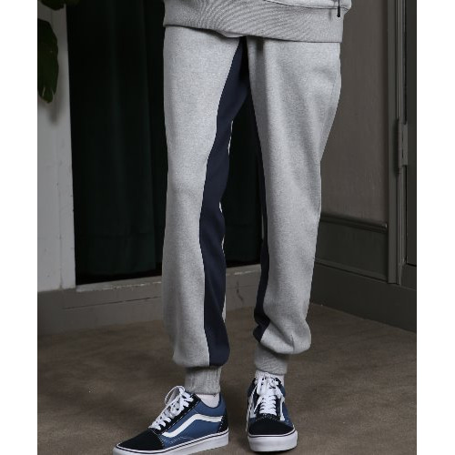 [ANOUTFIT] UNISEX INSIDE LINE JOGGER TRACK PANTS GREY