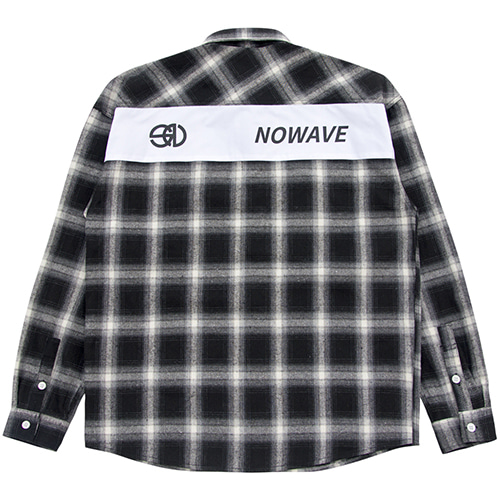 [NOWAVE] PATCH CHECK SHIRT - Black